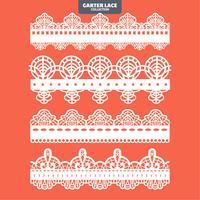 Set Garter Lace Ornament zum Sticken, Schneiden von Aufklebern und Laserschneiden