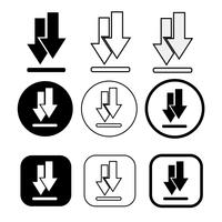 uppsättning ikon för enkel skyltning vektor
