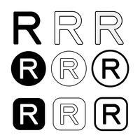 Registrerat varumärke ikon symbol tecken