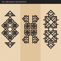 Lyxiga japanska, kalligrafiska, Aztec eleganta prydnadslinjer
