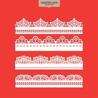 Set Garter Lace Ornament zum Sticken, Schneiden von Papier und Laserschneiden