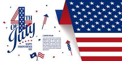 Fjärde juli banner