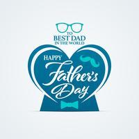 Glückliche Vatertagsgrußkarte mit Herzform vektor