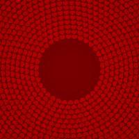 Röd cirkulär hjärtmönstrad bakgrund vektor