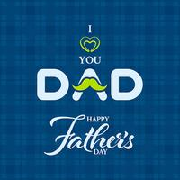 Glückliche Vatertagsgrußkarte vektor
