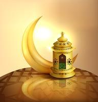 eid mubarak hälsningskort bakgrund vektor