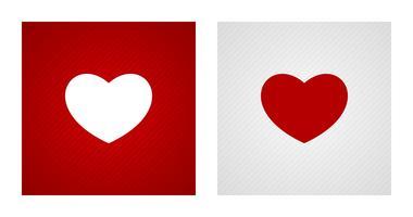 Hjärtformer på röda och vita bakgrunder vektor