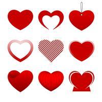 Rote Herzsammlung vektor