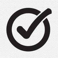 """Symbol für die Schaltfläche """"Checkliste"""" vektor"""