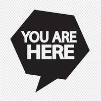 Du är här ikonen vektor