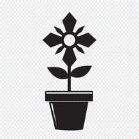 Blumentopf-Symbol vektor