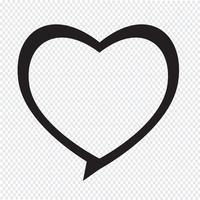 Herzsymbol Sprechblase vektor