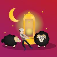 eid mubarak karaktär illustration vektor