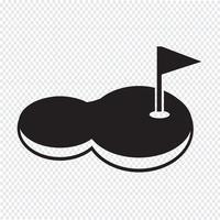 Golfplatz-Symbol vektor