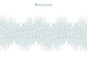 Abstrakt blå kvadratmönster av ljudvågsdesign bakgrund. Du kan använda för annons, affisch för musikfestival, tryck, omslagsdesign, konstverk. vektor
