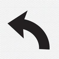 Rückgängig Icon Zeichen Illustration