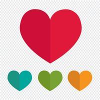 Kärlekhjärta ikon vektor