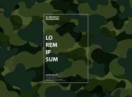 Abstrakt militär grön form mönster bakgrund. Design för abstraktionsanvändning, annons, affisch, konstverk, styrka armé, modern design. vektor