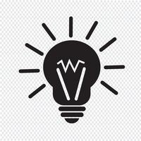 leichte Idee Symbol vektor