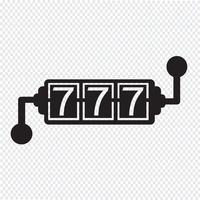 Slot Machine ikon vektor