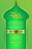 Plakat modernes Design Eid Mubarak Vorlage