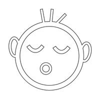 Baby schlafen Symbol