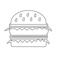 hamburger ikon symbol tecken