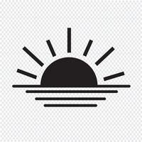 Sonnenaufgang Sonnenuntergang Liniensymbol vektor