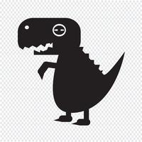 Tyrannosaurus Dinosaurier-Symbol vektor