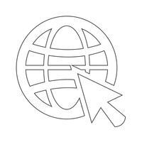 Gehen Sie Web-Symbol