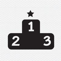 Podium ikon symbol tecken vektor