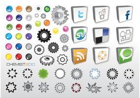 Soziale Web-Vektor-Icons vektor