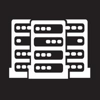 Computer Server-Symbol vektor