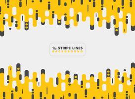 Abstrakte gelbe schwarze Streifenlinie Design-Kombinationshintergrund des Musters moderner. Sie können für Anzeige, Plakat, Druck, Schablone, Broschüre, Flieger, Grafik verwenden.