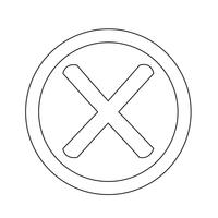 Falsches Markierungssymbol vektor