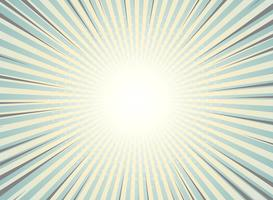 Abstrakte Sonne sprengte Hintergrundweinlese des Halbtonmusterdesigns. Grüne und gelbe Farben mit Höhepunkt des Comicstreifens. Sie können für Tapete, Anzeige, Abdeckung, Druck verwenden.