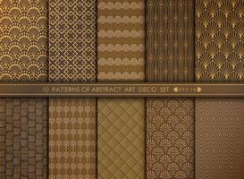 Abstrakt stor antikvitet art deco mönster design set. Du kan använda för konstverk dekorera, annons, lyx stil. vektor