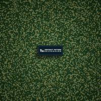 Abstrakter grüner militärischer quadratischer Musterdesignhintergrund. Vektor eps10