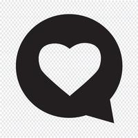 hjärta talbubbla ikon vektor