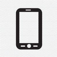 Mobiltelefon ikon vektor