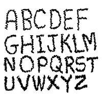 Hand Zeichnen Schriftart vektor