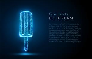 Abstraktes Eis. Low-Poly-Style-Design