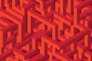 3D sömlös isometrisk bakgrund vektor