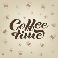 Vektor handgezeichnete Kaffee Schriftzug Banner