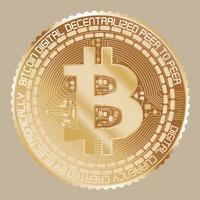 Gult guld Bitcoin vektor