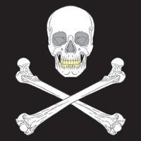 Piratskylt Svart vektor