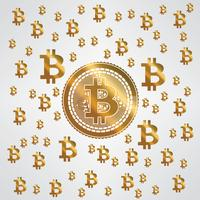 Bitcoin-Gelbgold-Muster vektor