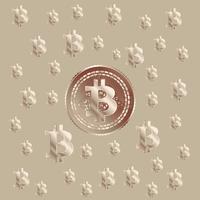 Bitcoin Koppar Mönster vektor