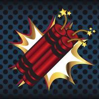 Dynamit redo att explodera vektor illustration