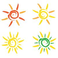 Sun-Ikonenvektorillustration vektor